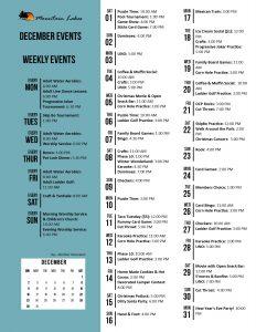 Activities Calendar Mountain Lakes Resort Rv Park